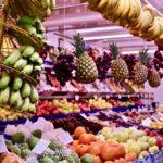 vegane Reisen - Gemüsestand