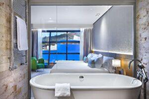 Bilbao-Gran-Hotel-Domine-Bathroom-View